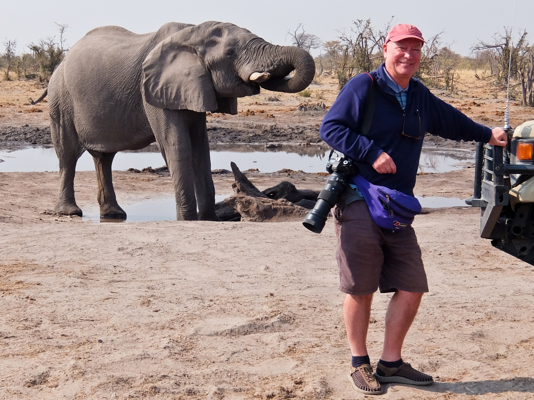 Rupert Standing with Elephant Behind-0858