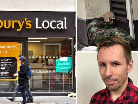 Sainsbury's kicked homeless man out of shop over 'hygiene issues'