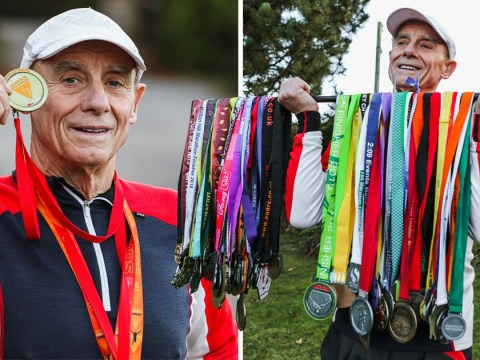 Pensioner who's run 23 ultra marathons says it's all down to hot chocolate and wine gums