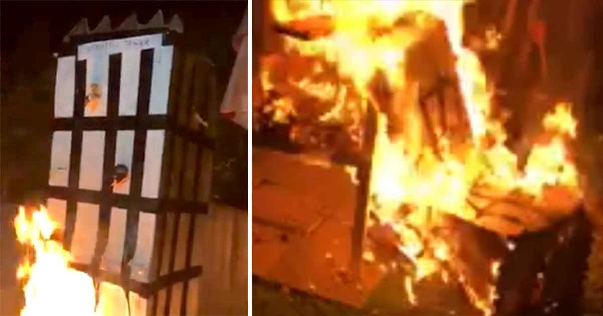 Family of man arrested over Grenfell bonfire says they are 'in so much danger now'