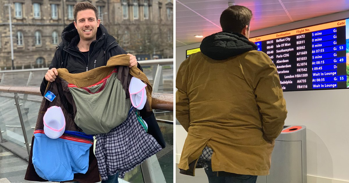 Man comes up with genius way to avoid Ryanair's luggage charge