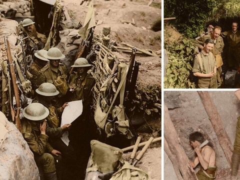 Incredible colour images from WWI released to mark 100 years since conflict ended