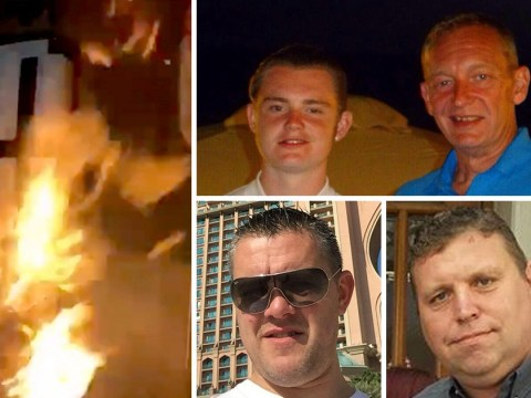 First pictures of men arrested over burning model of Grenfell Tower