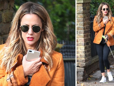 Caroline Flack looks stylish AF walking her dog ahead of Strictly Come Dancing Christmas special rehearsals