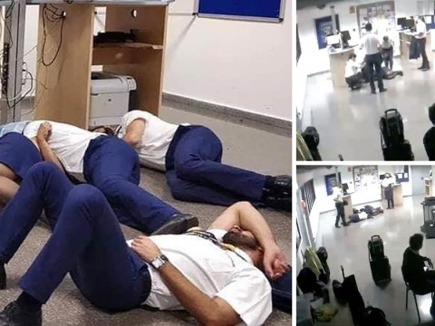 Ryanair crew sacked for 'fake picture' of them sleeping on airport floor