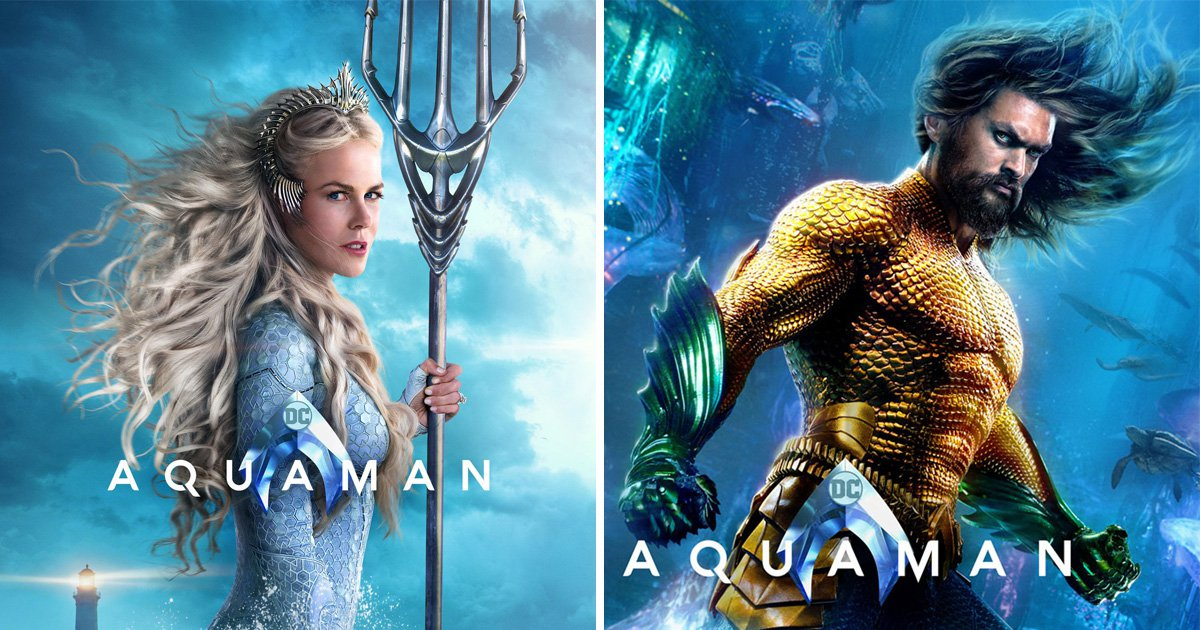 Aquaman: Nicole Kidman and Amber Heard shine as underwater Queens in stunning new posters