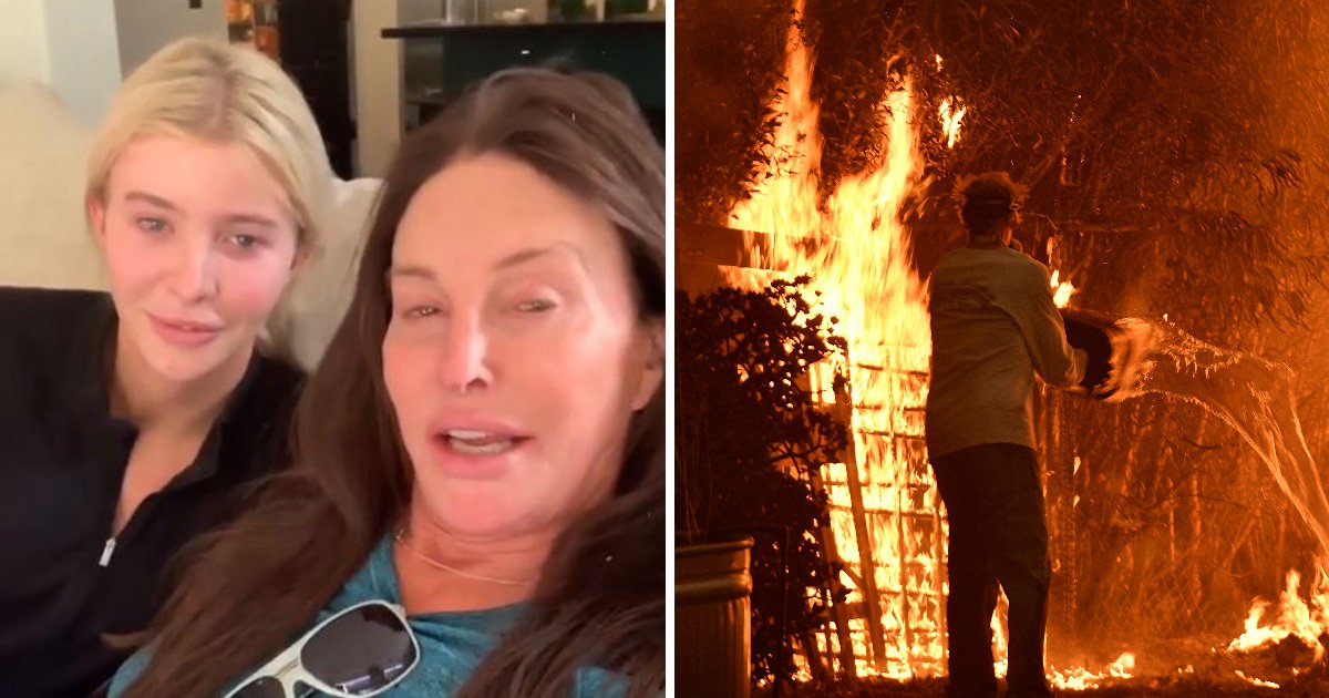 'We're having a vodka': Caitlyn Jenner confirms she's safe as Malibu home is 'burned down' in wildfire