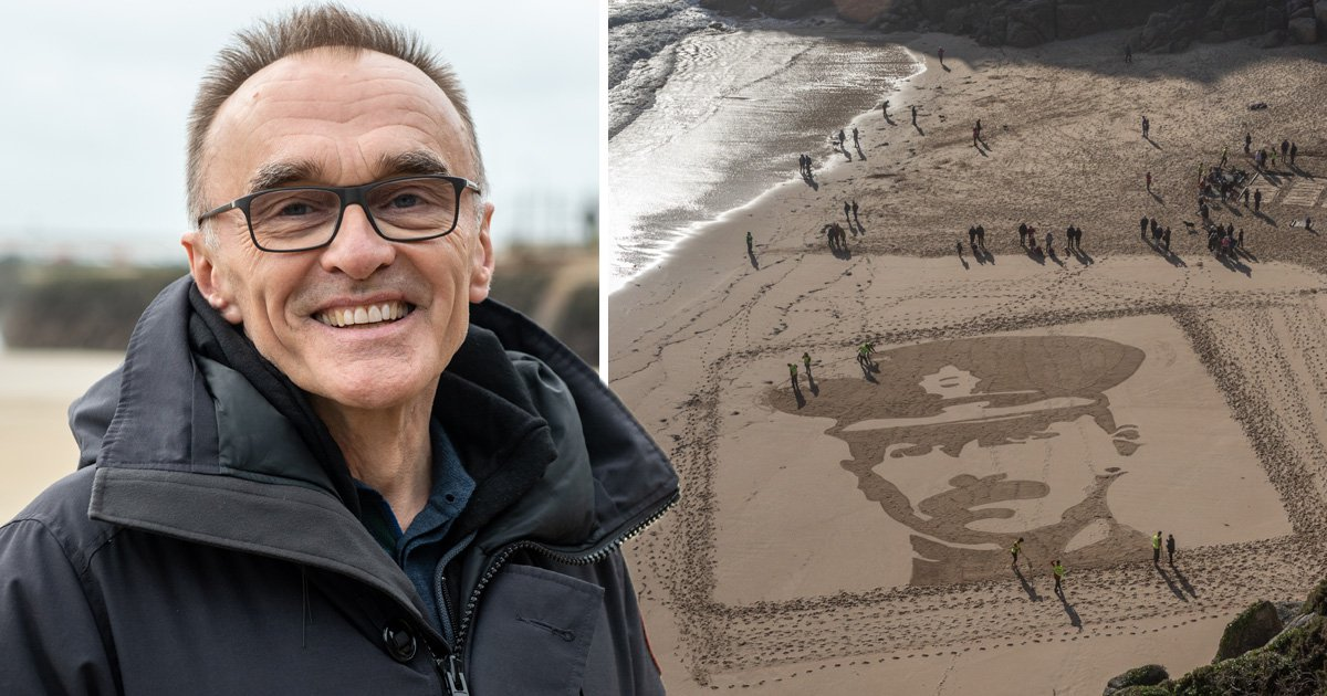 Incredible images of fallen heroes appear on British beaches thanks to Danny Boyle