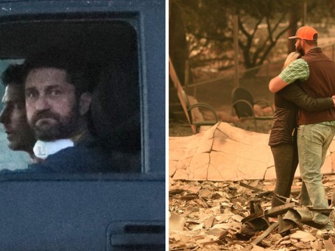 Gerard Butler opens up his home to those displaced after California wildfires