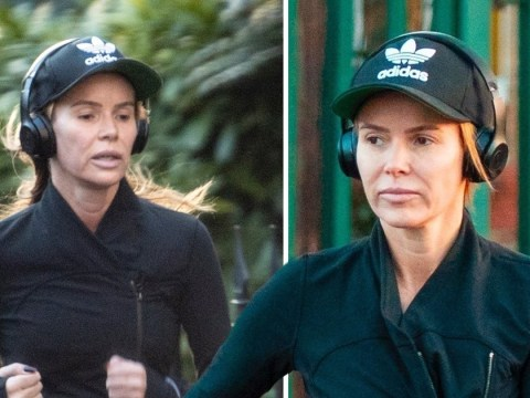 Amanda Holden pounds the pavement amid claims she confronted Philip Schofield over 'snub'