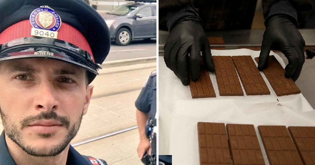 Cop called 'complete idiot' for stealing chocolate laced with weed and eating it