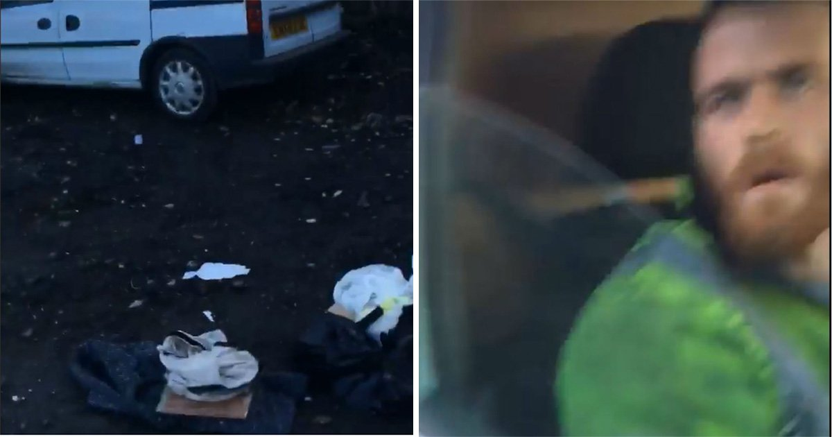 Fly tipper drives van at landowner who caught him dumping rubbish on his land