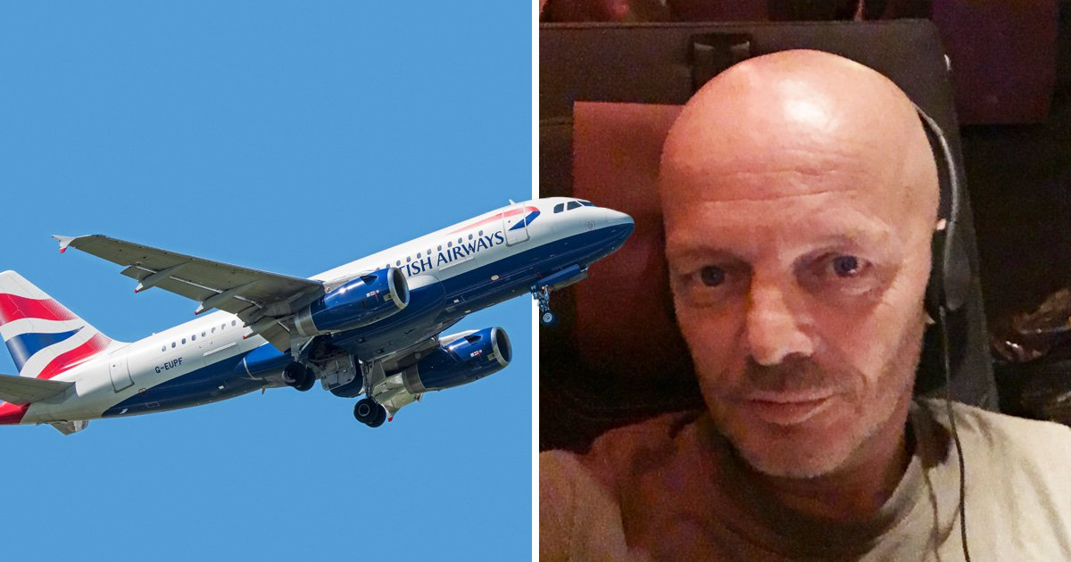 Man sues BA after he injured back sitting next to fat passenger
