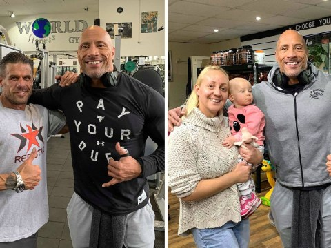 Actual Dwayne 'The Rock' Johnson turned up at a gym in Doncaster
