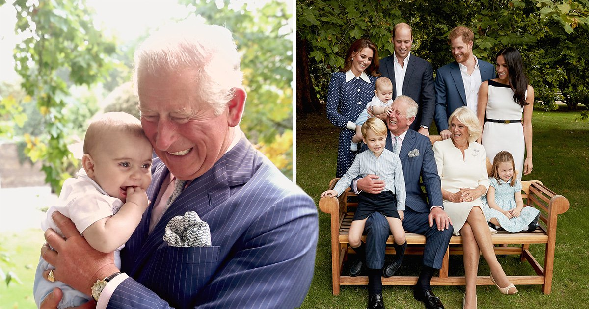 Prince Charles shows his soft side as he giggles with Prince Louis