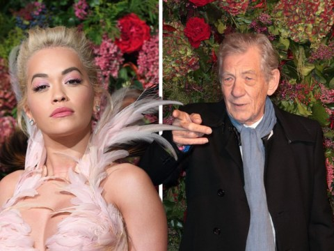 Rita Ora joins Ralph Fiennes and Ian McKellen as she makes bold appearance at ES Theatre Awards