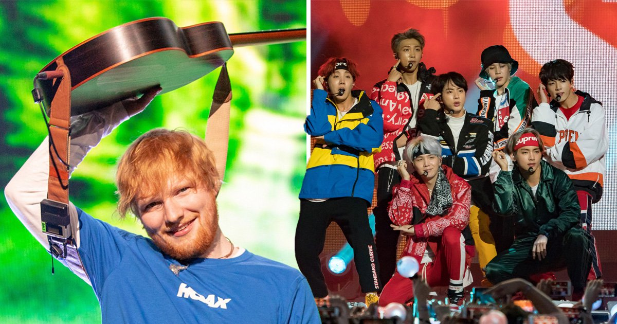 Ed Sheeran reveals BTS are 'messing with' a song he wrote and the excitement is unreal