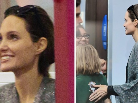 Angelina Jolie smiles with pride while watching daughter Vivienne at karate practice