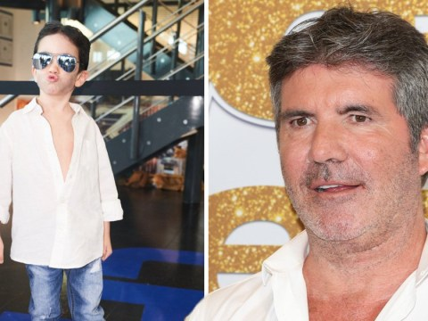 Simon Cowell's son Eric, 4, perfectly mimics his father as he dresses as X Factor judge