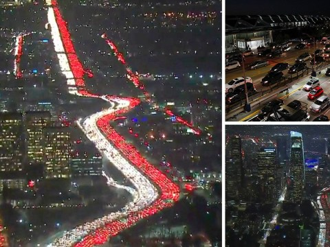 Rush hour traffic for Thanksgiving in LA looks like a living nightmare