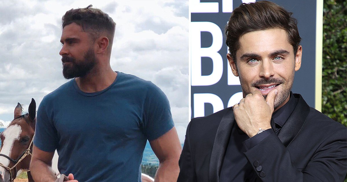 A bearded Zac Efron rides a horse and suddenly the world is thirsty