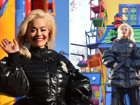 Rita Ora suffers awkward lip-syncing fail as she mimes during Macy's Day Thanksgiving Parade show