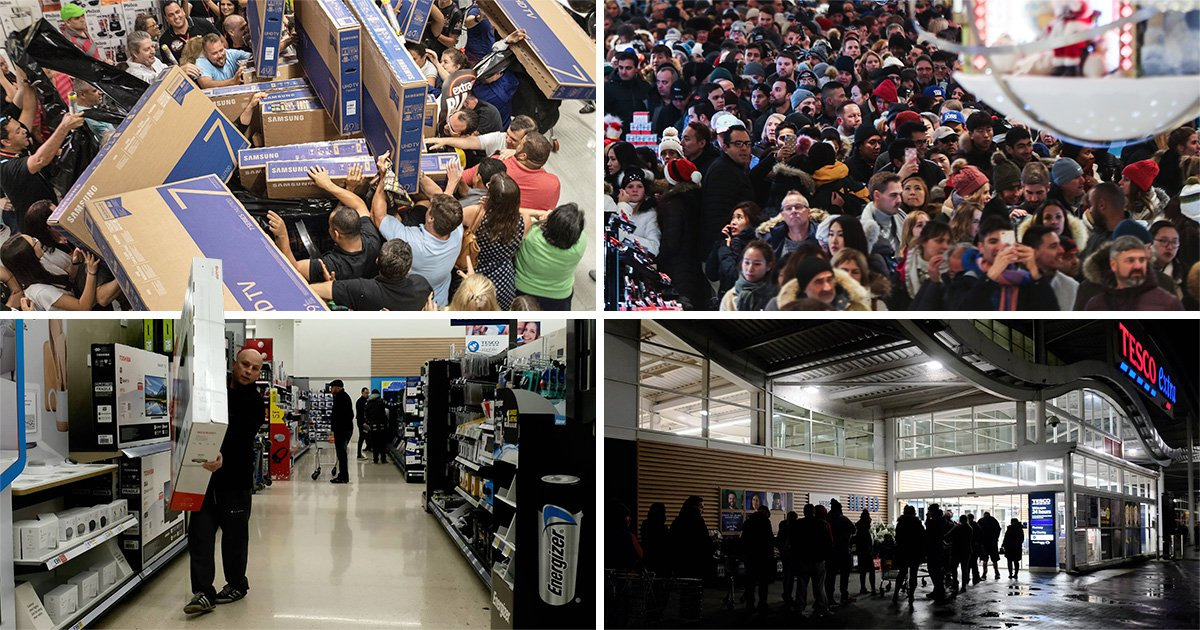 Black Friday in pictures: How bargain hunters in the UK compare to elsewhere