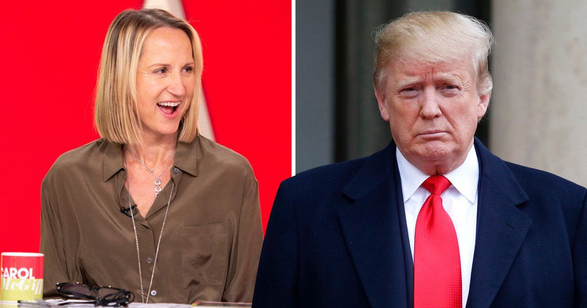 Loose Women star Carol McGiffin fiercely defends President Trump: 'He's sticking up for America'