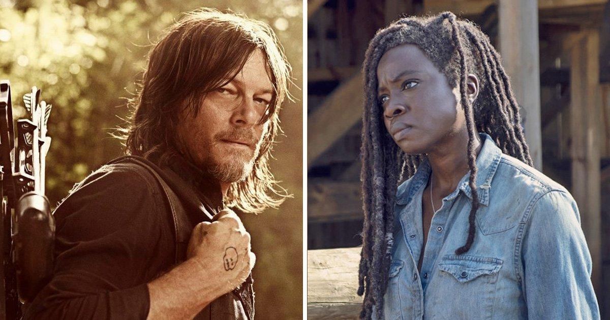 Darryl and Michonne in The Walking Dead