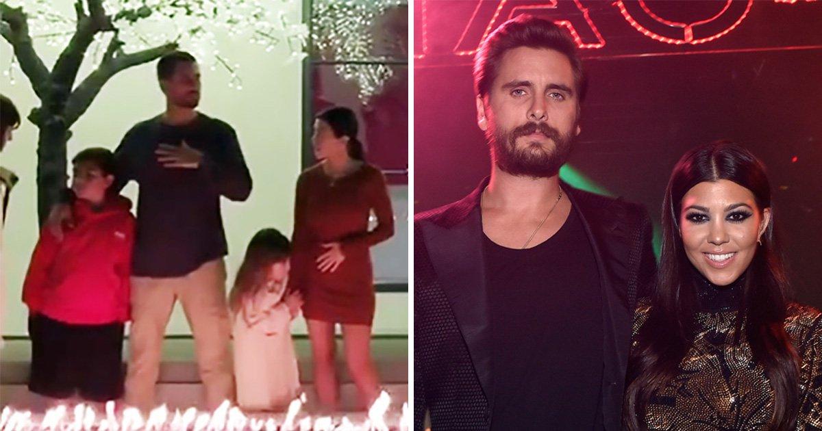 Kourtney Kardashian responds to pregnancy rumours after Scott Disick sleeps over for Thanksgiving