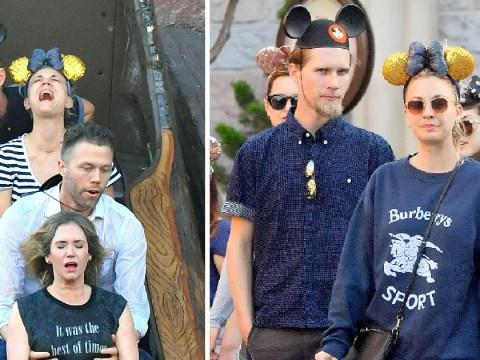 Big Bang Theory's Kaley Cuoco screams for dear life as she celebrates birthday at Disneyland