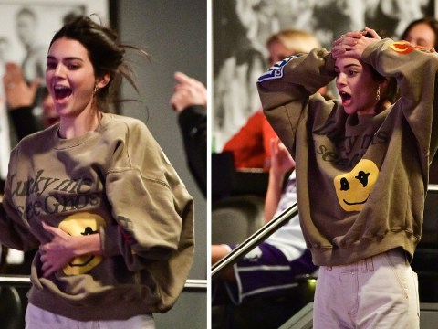Kendall Jenner goes wild for Ben Simmons as she cheers him on at Sixers game