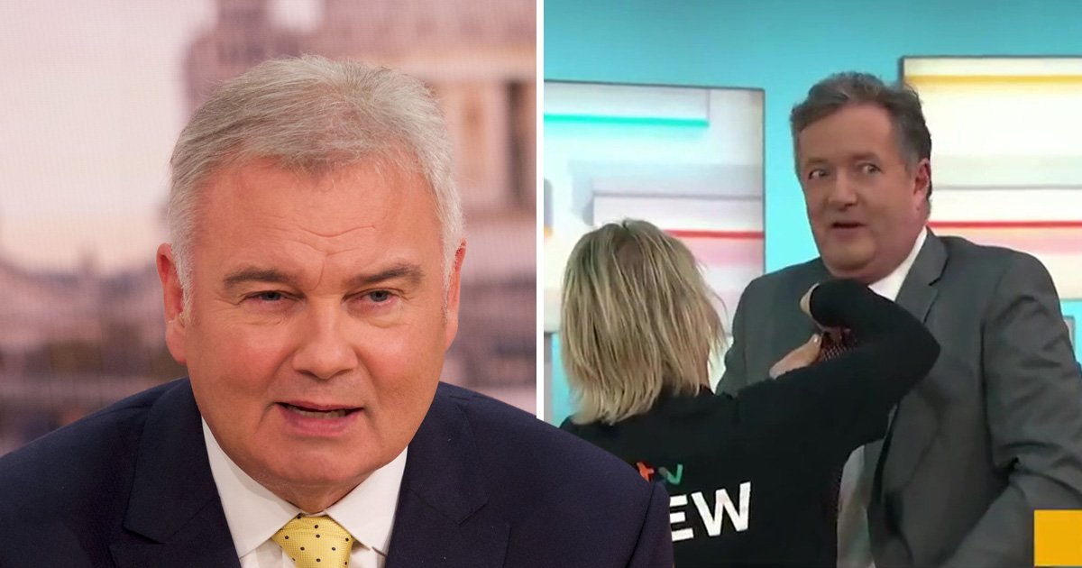 Eamonn Holmes mocks Piers Morgan for getting to Good Morning Britain four seconds before going on air