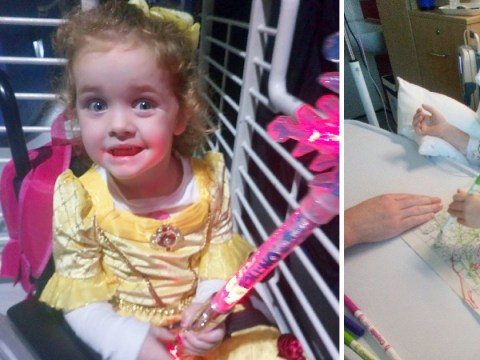 Girl, four, left brain damaged after chicken pox caused stroke