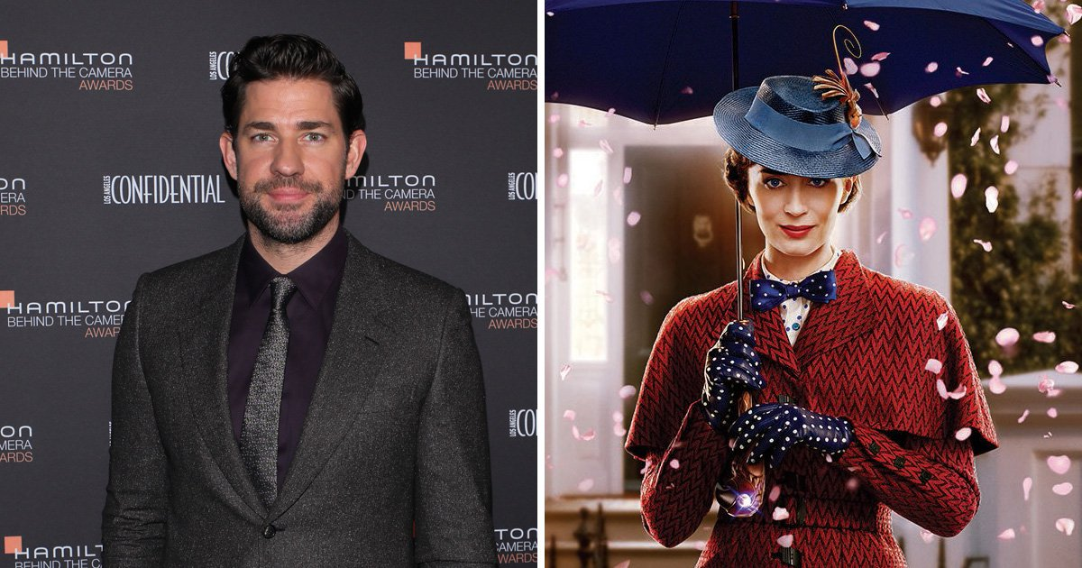 John Krasinski cried uncontrollably watching Emily Blunt in Mary Poppins Returns: 'It's beautiful'