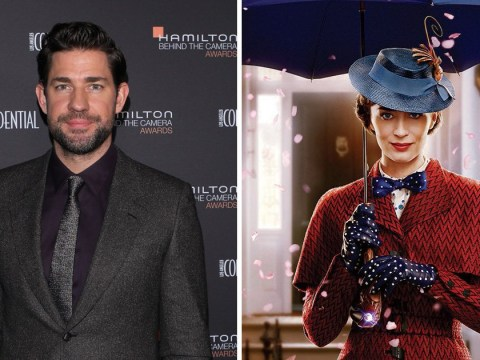 John Krasinski cried uncontrollably watching Emily Blunt in Mary Poppins Returns: 'It's beautiful'