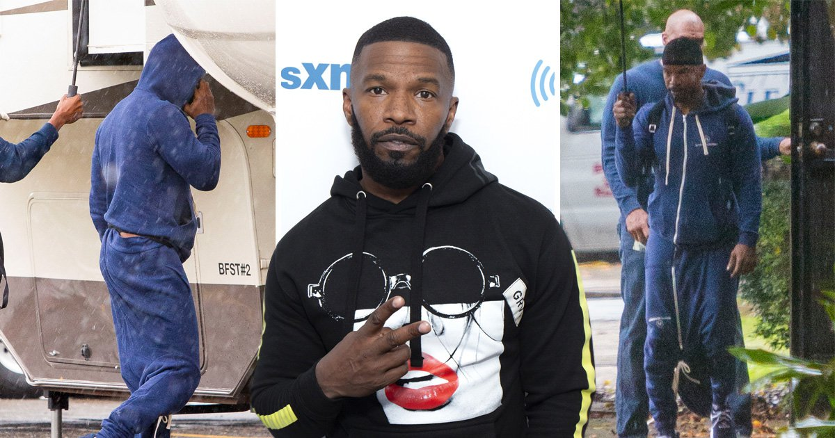 Jamie Foxx wears a hoodie as trousers, and we have questions