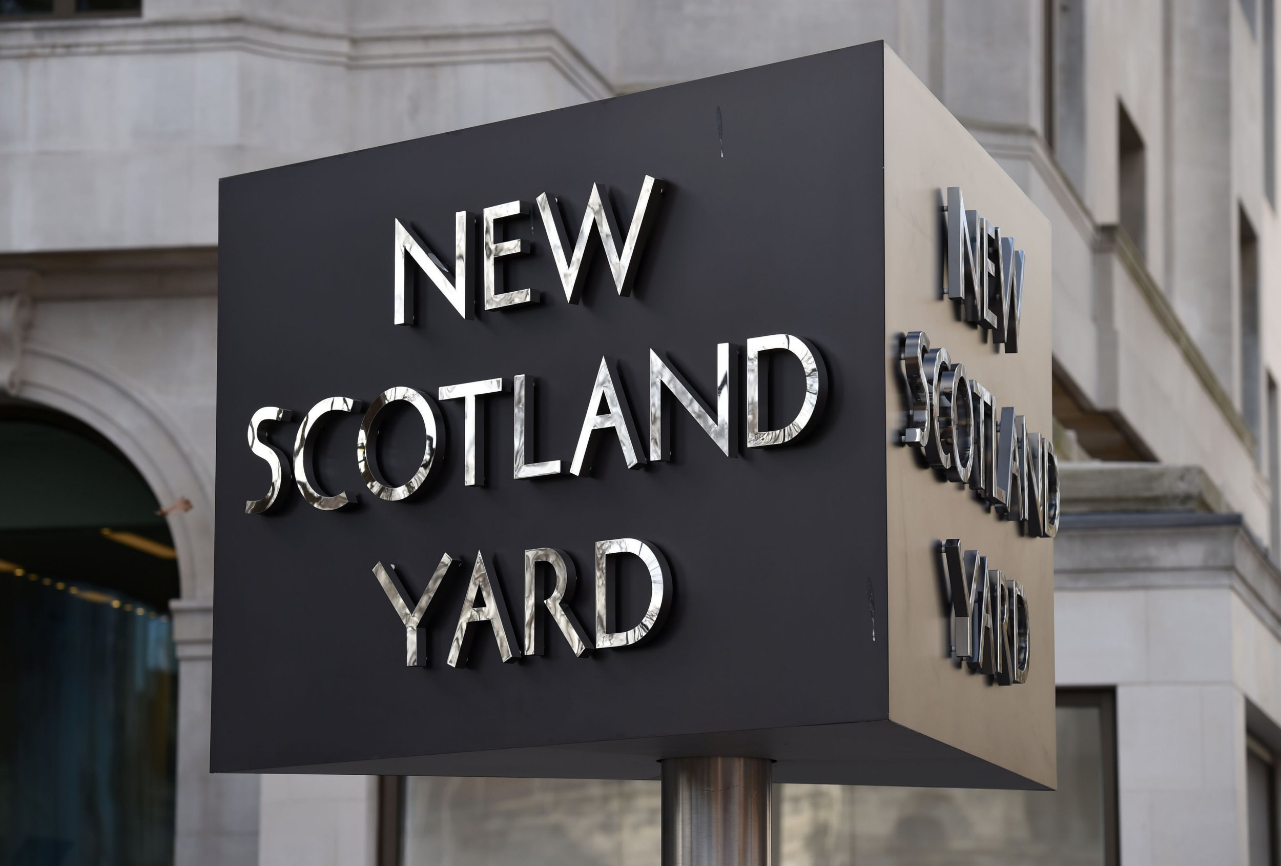 File photo dated 3/2/2017 of the New Scotland Yard sign. The number of crimes dropped without investigation within 24 hours by the Met more than doubled to over 30,000 in the space of a year, according to new figures. PRESS ASSOCIATION Photo. Issue date: Monday September 10, 2018. A Freedom of Information (FOI) request by the Guardian revealed that 34,164 incidents reported in 2017 were dropped within one day of being reported - up from 13,019 the year before. See PA story CRIME Outcomes. Photo credit should read: Kirsty O'Connor/PA Wire