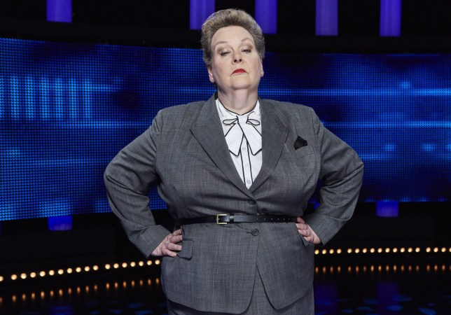 """Editorial use only Mandatory Credit: Photo by ITV/REX/Shutterstock (9313510s) Chaser, Anne Hegerty 'The Chase' TV Series - 2018 The Chase is an ITV quiz show hosted by Bradley Walsh, in which Contestants play against a professional quizzer, the """"chaser"""", who attempts to prevent them from winning the cash prize. The Chasers include stand-up comedian Paul 'The Sinnerman' Sinha; Anne 'The Governess' Hegerty; Shaun 'The Barrister' Wallace; Mark 'The Beast' Labbett; and Jenny 'The Vixen' Ryan."""