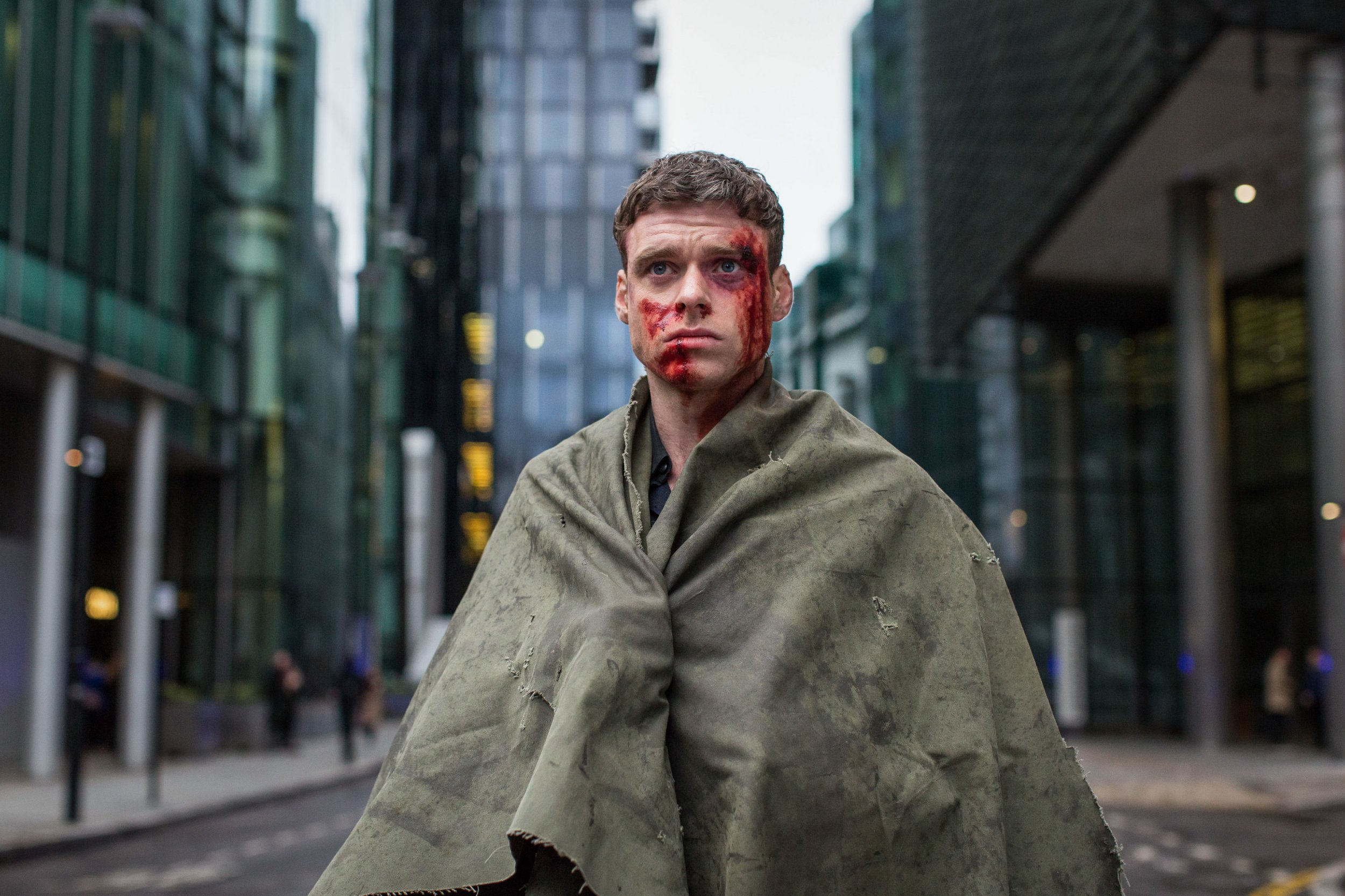 For use in UK, Ireland or Benelux countries only Undated BBC handout photo of Richard Madden as David Budd. According the BBC the finale of the how has become the most-watched episode of any drama since records began in 2002. PRESS ASSOCIATION Photo. Issue date: Tuesday October 23, 2018. The figure was calculated using Barb's updated four-screen measure, which was introduced in August and now includes data for those viewing programmes through online non-TV devices such as PCs, laptops, smartphones and tablets. See PA story SHOWBIZ Bodyguard. Photo credit should read: Sophie Mutevelian/World Producti/BBC/PA Wire NOTE TO EDITORS: Not for use more than 21 days after issue. You may use this picture without charge only for the purpose of publicising or reporting on current BBC programming, personnel or other BBC output or activity within 21 days of issue. Any use after that time MUST be cleared through BBC Picture Publicity. Please credit the image to the BBC and any named photographer or independent programme maker, as described in the caption.