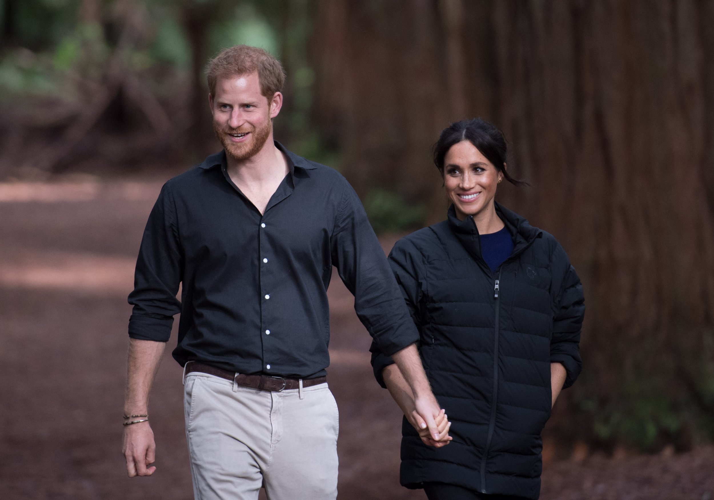 Prince Harry, the Duke of Sussex and Meghan, the Duchess of Sussex visit Redwoods Treewalk Rotorua Pictured: Prince Harry,the Duke of Sussex and Meghan,the Duchess of Sussex Ref: SPL5037914 311018 NON-EXCLUSIVE Picture by: SplashNews.com Splash News and Pictures Los Angeles: 310-821-2666 New York: 212-619-2666 London: 0207 644 7656 Milan: 02 4399 8577 photodesk@splashnews.com World Rights,