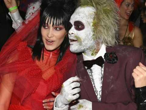 The Weeknd and Bella Hadid 'all over each other' at Heidi Klum's annual Halloween party