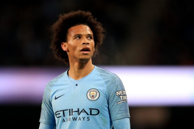 MANCHESTER, ENGLAND - NOVEMBER 01: Leroy Sane of Manchester City looks on during the Carabao Cup Fourth Round match between Manchester City and Fulham at Etihad Stadium on November 1, 2018 in Manchester, England. (Photo by Matt McNulty - Manchester City/Man City via Getty Images)