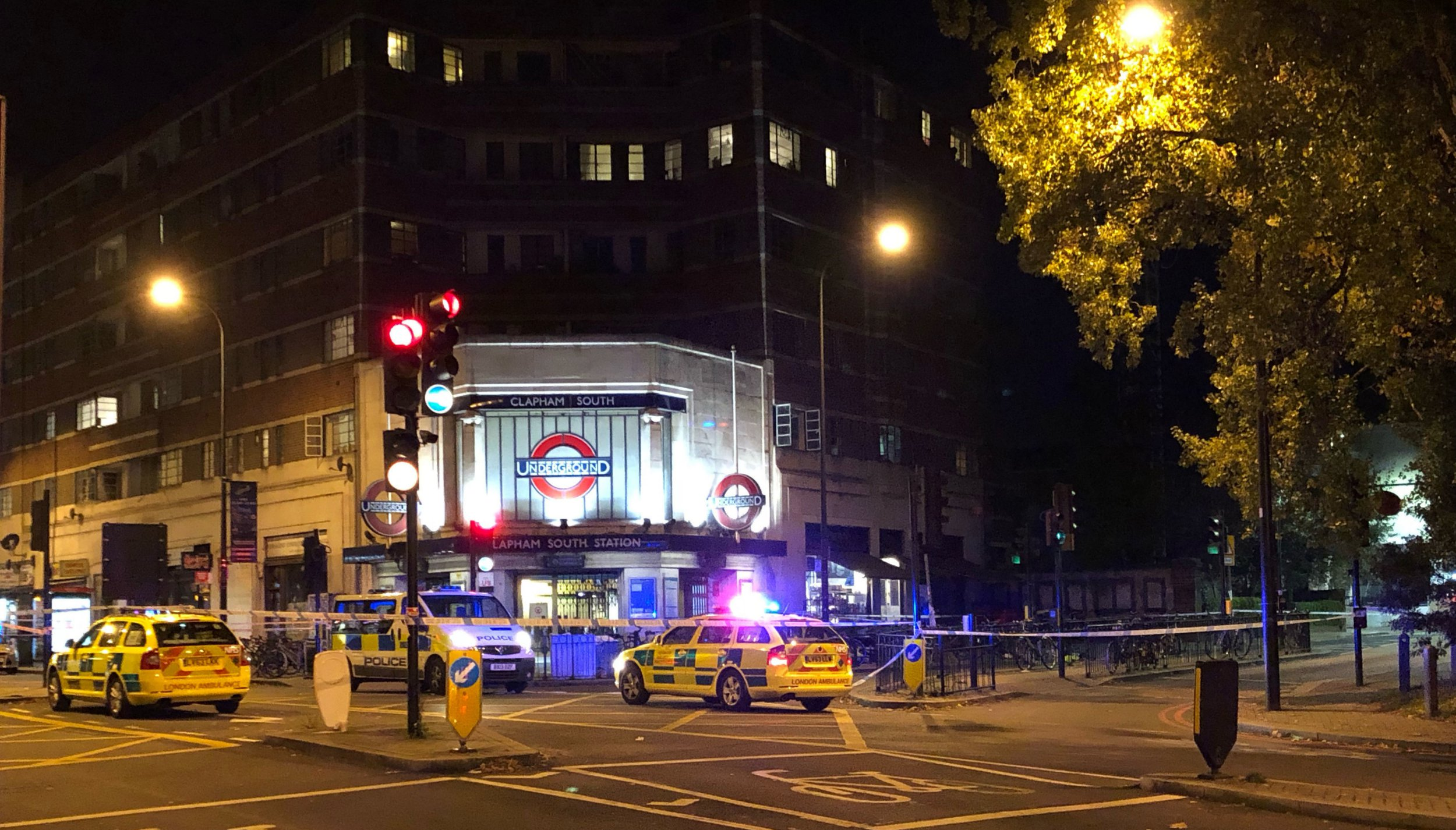 Two teenagers arrested on suspicion of murder following Clapham station stabbing