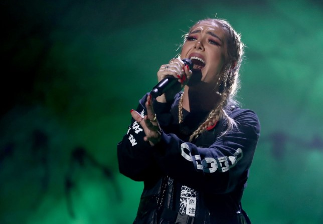 STRICT EMBARGO - NO USE BEFORE 20:35 GMT SATURDAY 03 NOV 2018 - EDITORIAL USE ONLY - NO BOOK PUBLISHING Mandatory Credit: Photo by Dymond/Thames/Syco/REX (9958878cz) Bella Penfold 'The X Factor' TV show, Series 15, Episode 19, London, UK - 03 Nov 2018