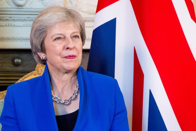 Mandatory Credit: Photo by REX/Shutterstock (9943084by) Prime Minister Theresa May State Visit of the King and Queen of the Netherlands, London, UK - 24 Oct 2018