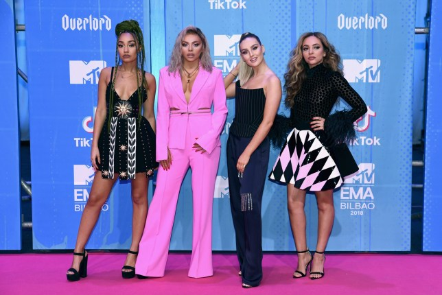 BILBAO, SPAIN - NOVEMBER 04: (L-R)Leigh-Anne Pinnock, Jesy Nelson, Perrie Louise Edwards and Jade Thirlwall of Little Mix attends the MTV EMAs 2018 on November 4, 2018 in Bilbao, Spain. (Photo by Carlos Alvarez/Getty Images for MTV)