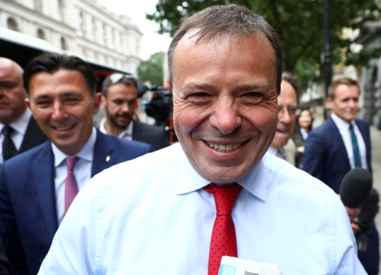 FILE PHOTO: Arron Banks and Andy Wigmore, who ran the Leave.Eu pro-Brexit referendum campaign, arrive to give evidence to the Digital Culture Media and Sport Parliamentary Committee in London, Britain, June 12, 2018. REUTERS/Simon Dawson/File Photo