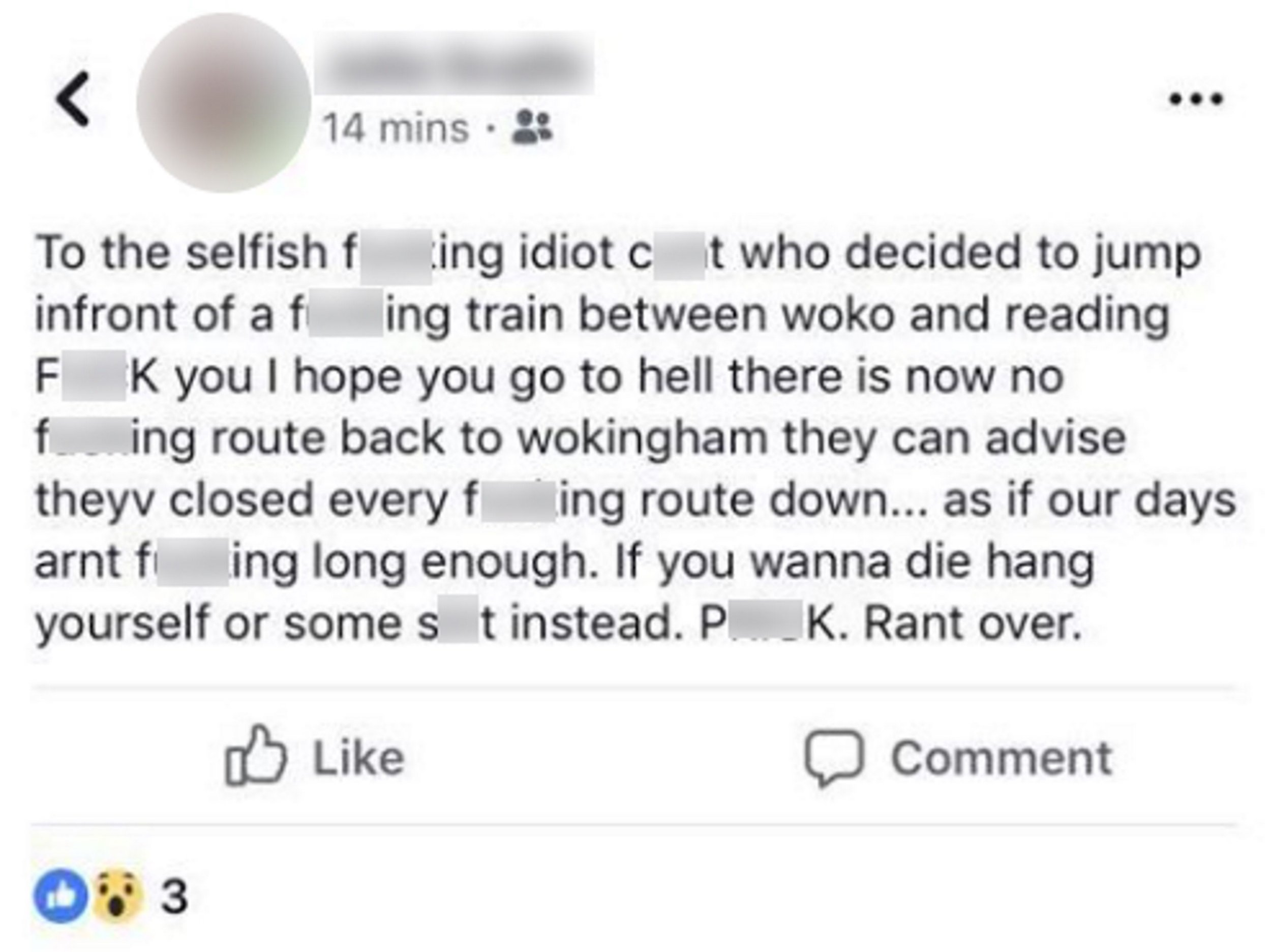 PIC FROM Kennedy News and Media (PICTURED: COMMUTER'S ONLINE RANT AFTER TRAIN CANCELLATIONS AS RESULT OF BOY'S DEATH) A retired train driver whose vehicle killed a suicidal mother carrying her baby in the 70s has slammed a passenger's 'vile' rant over being late due to a boy of 15 being killed by a train. Dad-of-two Martin Gilbert, 64, was a second-man on the Continental Express in 1975 when the train driver hit a young mum and her seven-week-old daughter killing them instantly. Now, more than 40 years later, Martin still suffers terrible nightmares and flashbacks of the young mum, Nellie Ross, 25, stepping out in front of him. SEE KENNEDY NEWS COPY - 0161 697 4266