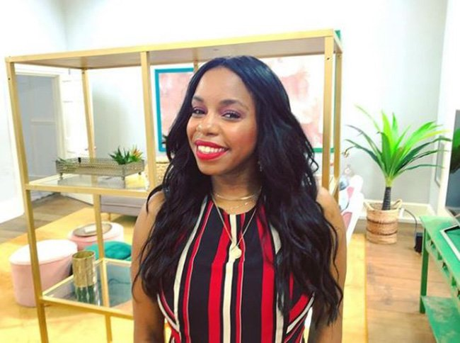 Pictured: London Hughes BBC makeup artist accused of using hot chocolate for black presenter's skin as she didnt have the right colour makeup